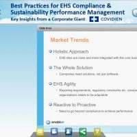 Best Practices for EHS Compliance and Sustainability Performance Management