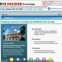 Insider Knowledge 2012: New Energy & Environmental Management Strategies: Lessons Learned from Corporate Environmental, Sustainability and Energy Decision-Makers