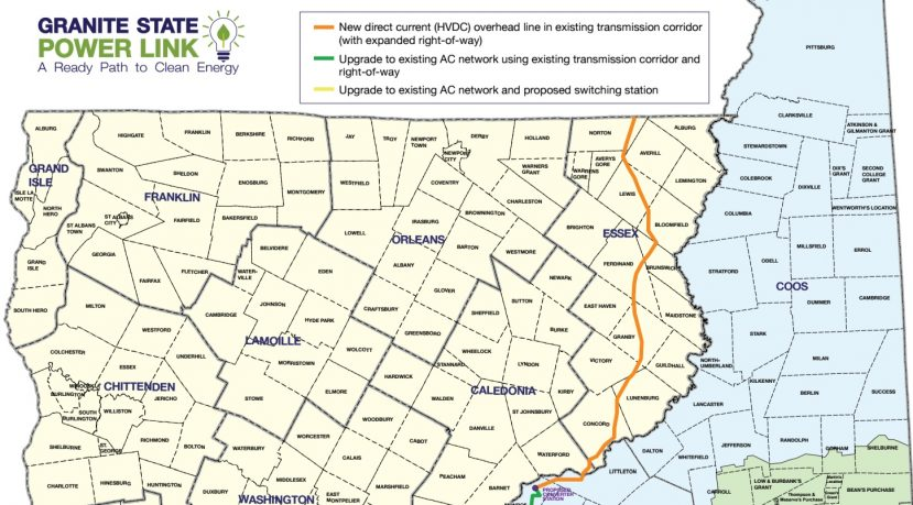 Granite State Power Link Network Map