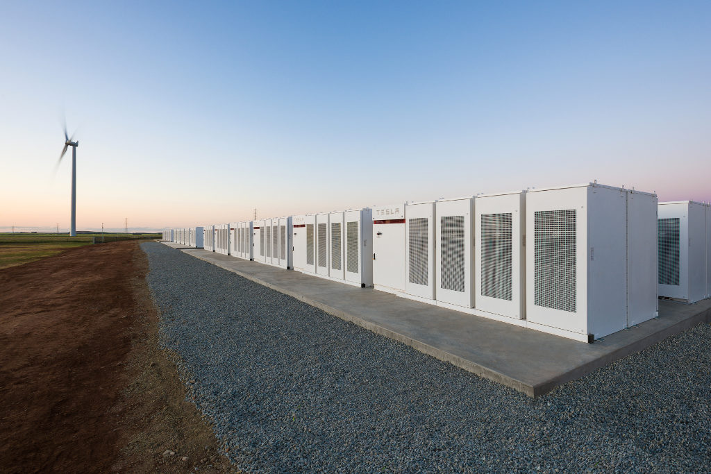 Tesla battery power Australia grid