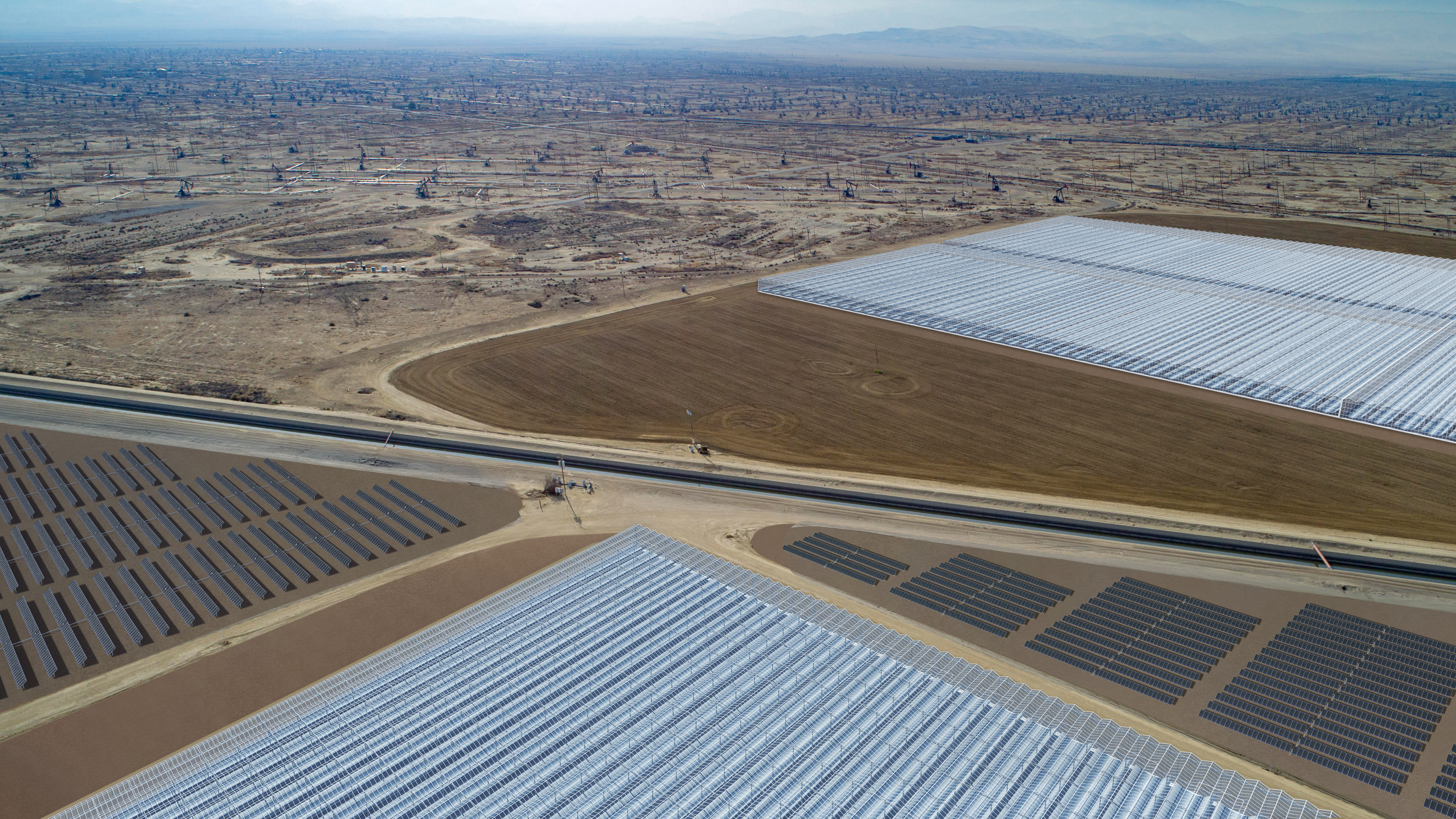 California S Largest Solar Energy Project Set For Oil