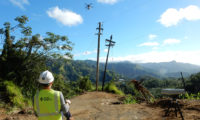 Wish List Drones Fly Power Lines to Poles in Puerto Rico