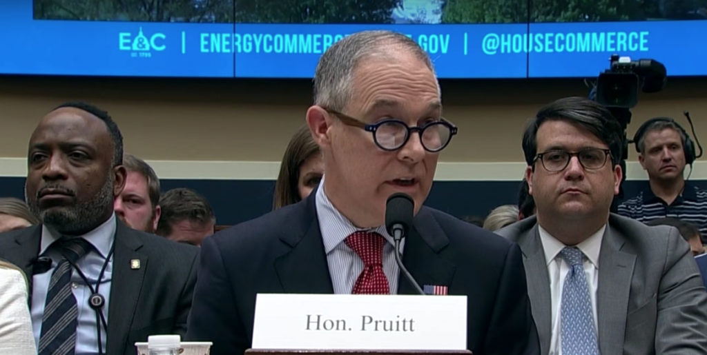 EPA Chief Faces Tough Questions