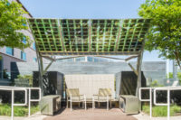 Solar Canopy Provides Shade, Charges Devices