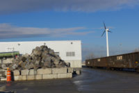 Commercial Scale Wind Turbine Rises in Brooklyn