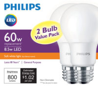 Home Depot Sells Philips 60-W LED Equivalent for $4.97