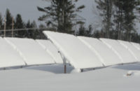 Cleaning the Snow Off Solar Modules